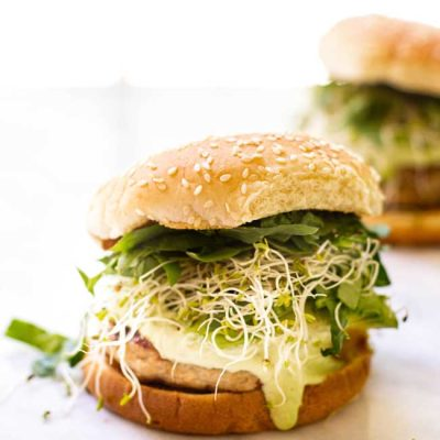 Turkey Burgers with Creamy Herb Dressing