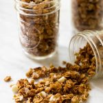 Homemade white chocolate granola