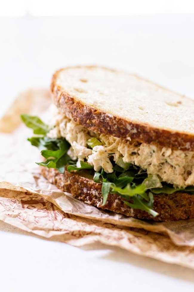Crab Salad Sandwich | girlgonegourmet.com