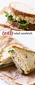 Crab salad sandwich