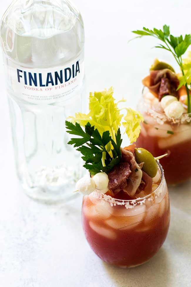 Bloody Mary Drinks with Finlandia Vodka