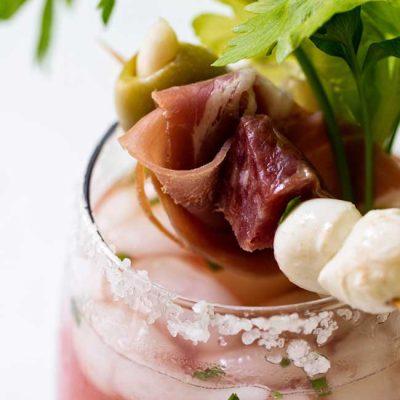 Bloody Mary with Italian-Style Garnish
