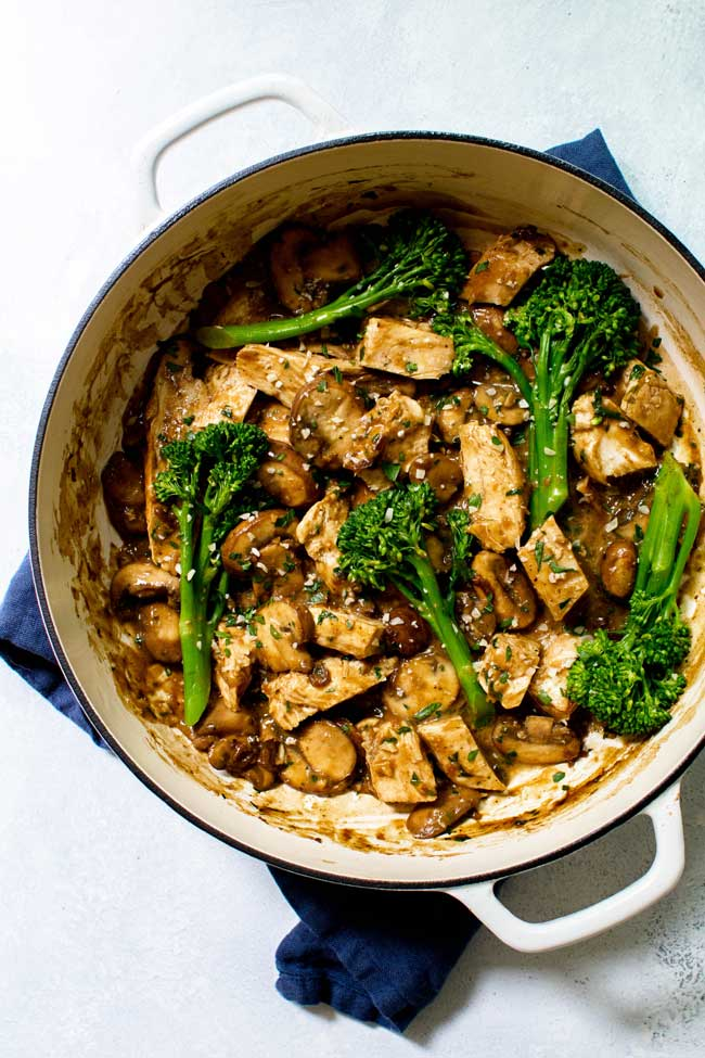 photo of One-Pan Mushroom Chicken