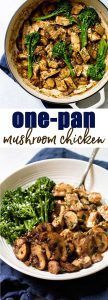 Chicken and mushrooms in a velvety smooth sauce