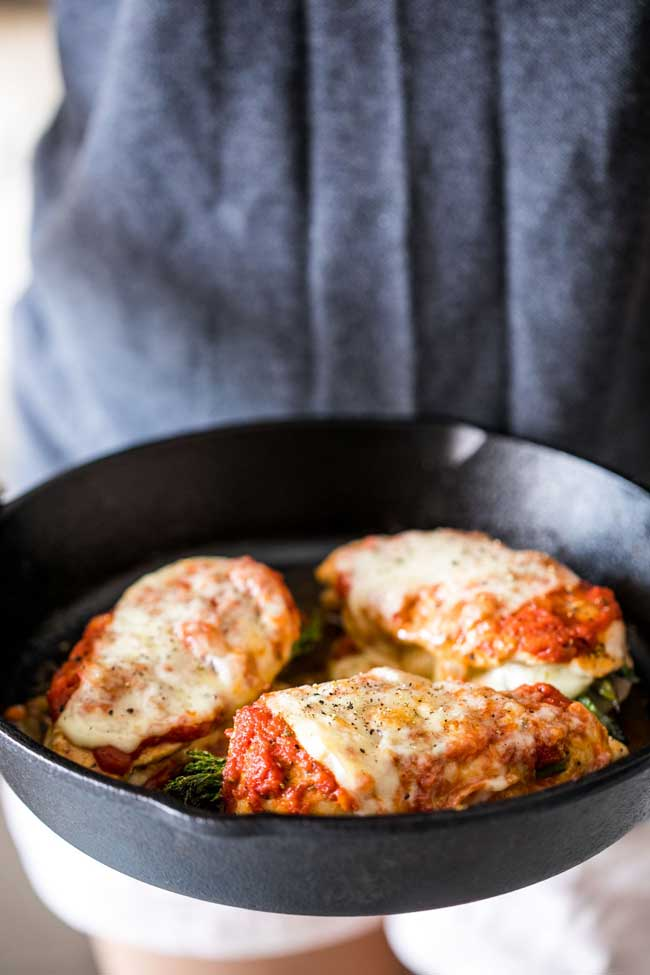 photo of Asparagus Stuffed Chicken Parmesan