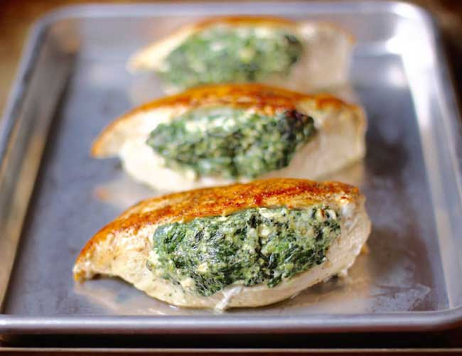 photo of Spinach Stuffed Chicken