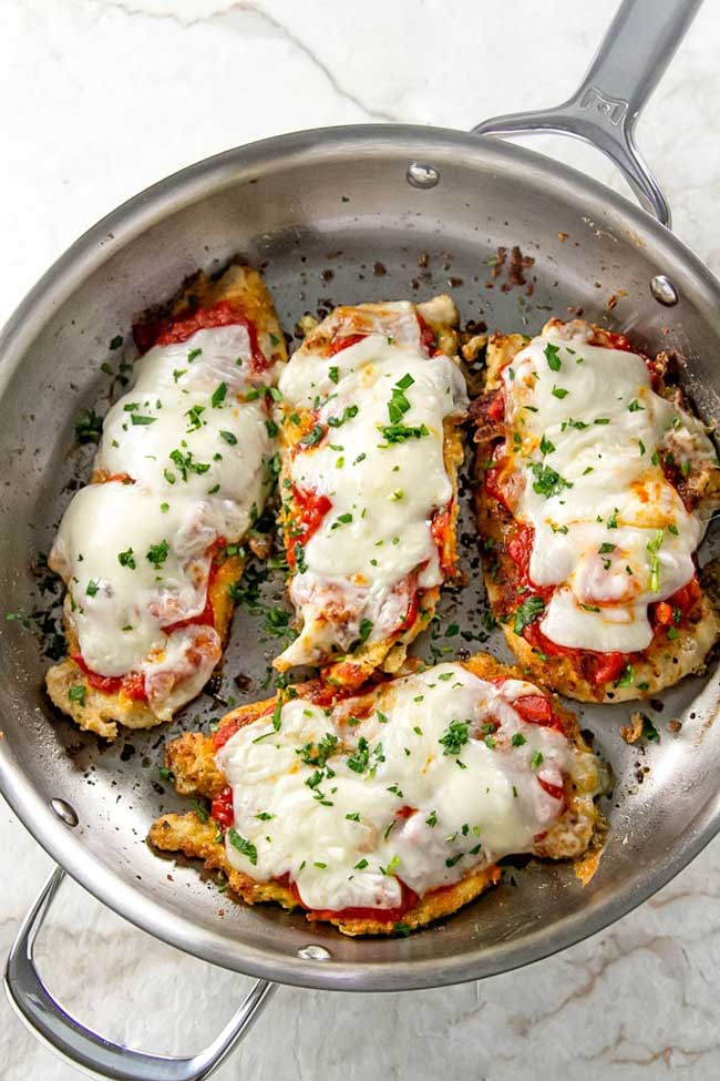 photo of Easy Skillet Chicken Parmesan