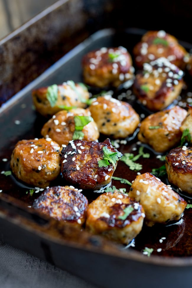 24 Meatball Recipes: Sticky Sesame Meatballs