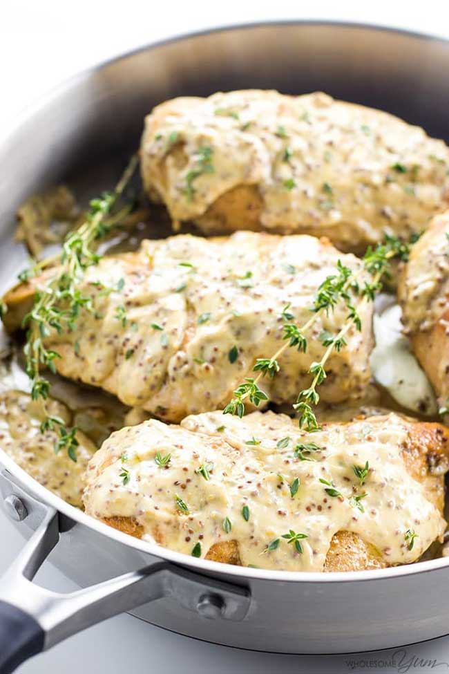 photo of Pan-Seared Chicken Breast with Mustard Cream Sauce