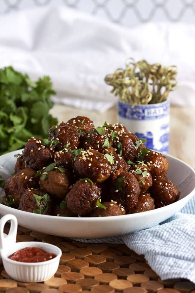 24 Meatball Recipes: Slow Cooker Spicy Orange Ginger Meatballs
