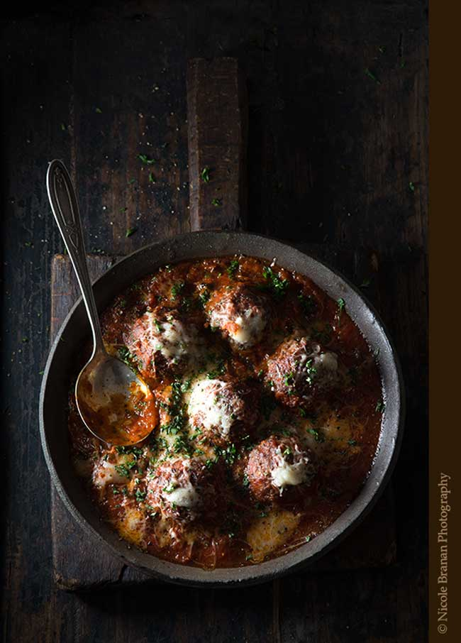 24 Meatball Recipes: Cinnamon Meatballs with Marinara Sauce