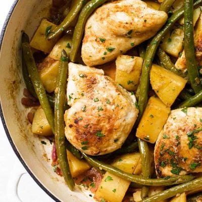 Chicken with Lemon-Garlic Green Beans & Potatoes