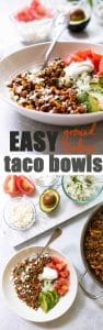Easy ground turkey taco bowls: a quick 30-minute dinner!