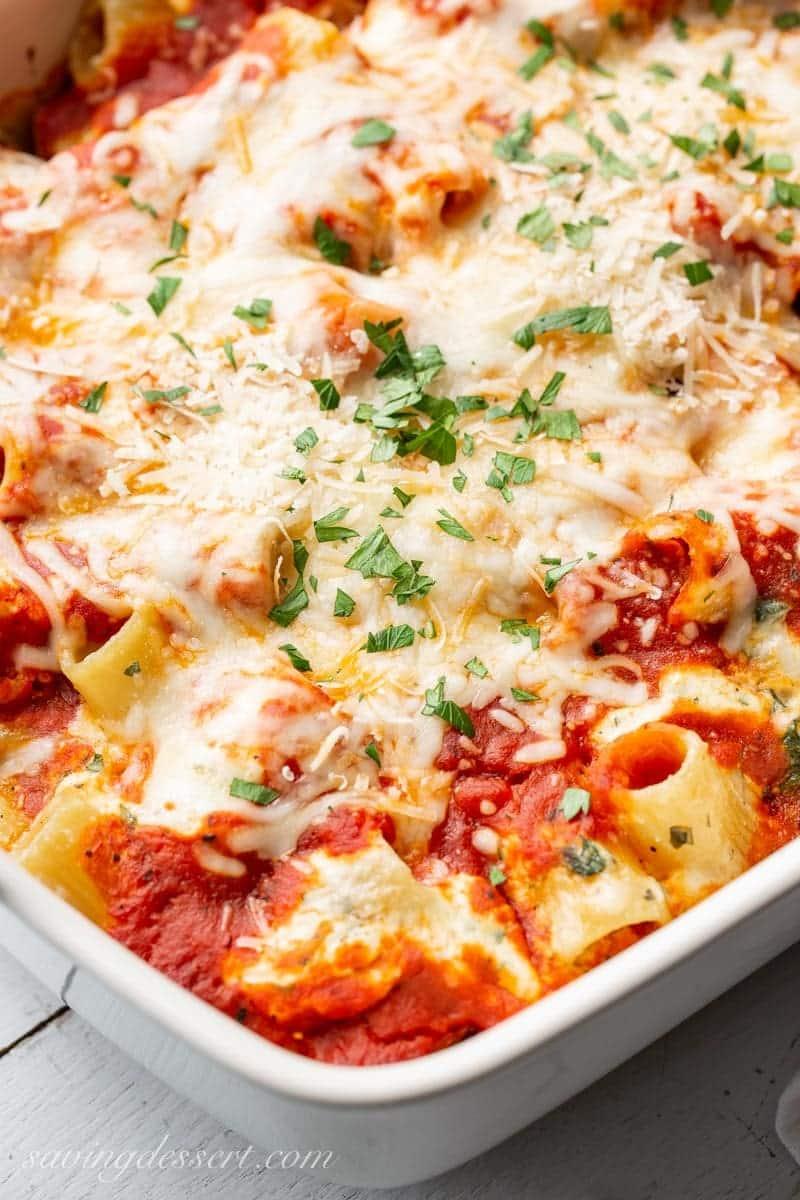 ricotta spinach pasta bake