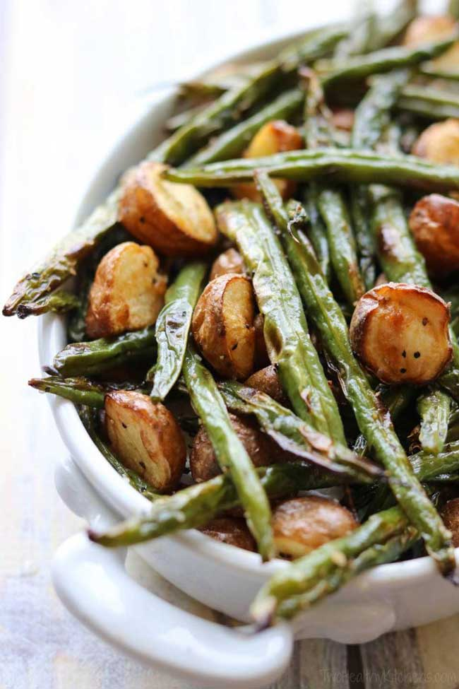 Easy Holiday Side Dishes: Blistered Green Beans with Potatoes
