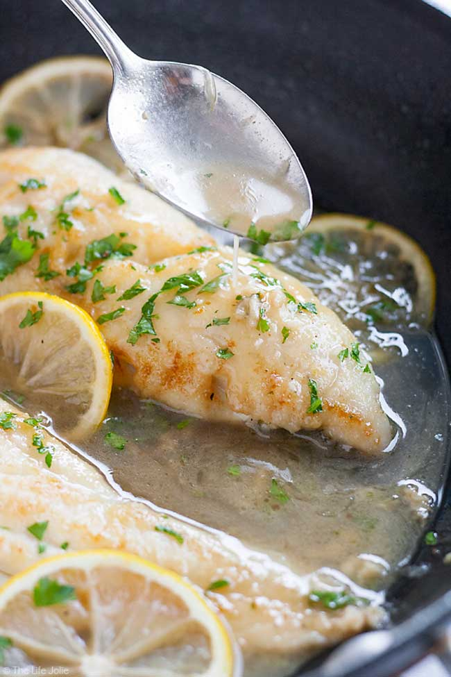 Fish for Two with Lemon Sherry Pan Sauce