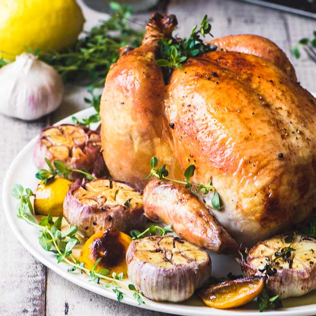 17 Comfort Food Recipes: Roast Chicken with Garlic