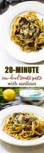 Sun-Dried Tomato Pasta with Sardines