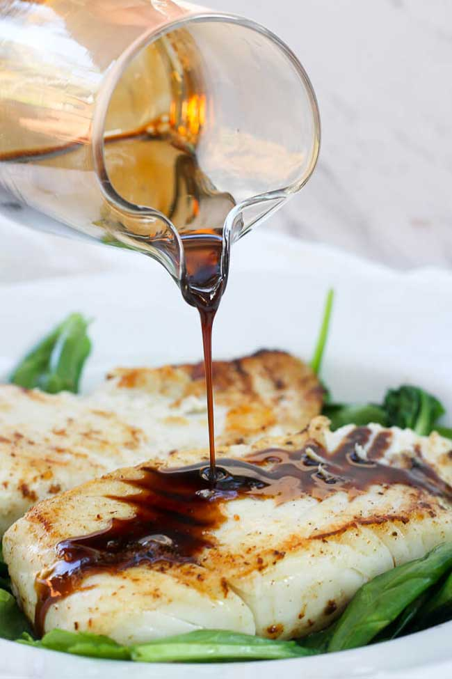11 Easy Dinner Recipes for Two: Kentucky Bourban Pan Seared Halibut
