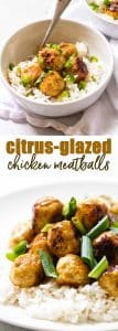 Citrus-Glazed Chicken Meatballs