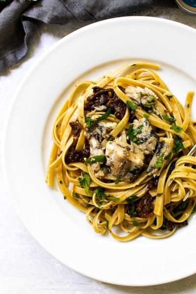20-Minute Sun-Dried Tomato Pasta with Sardines
