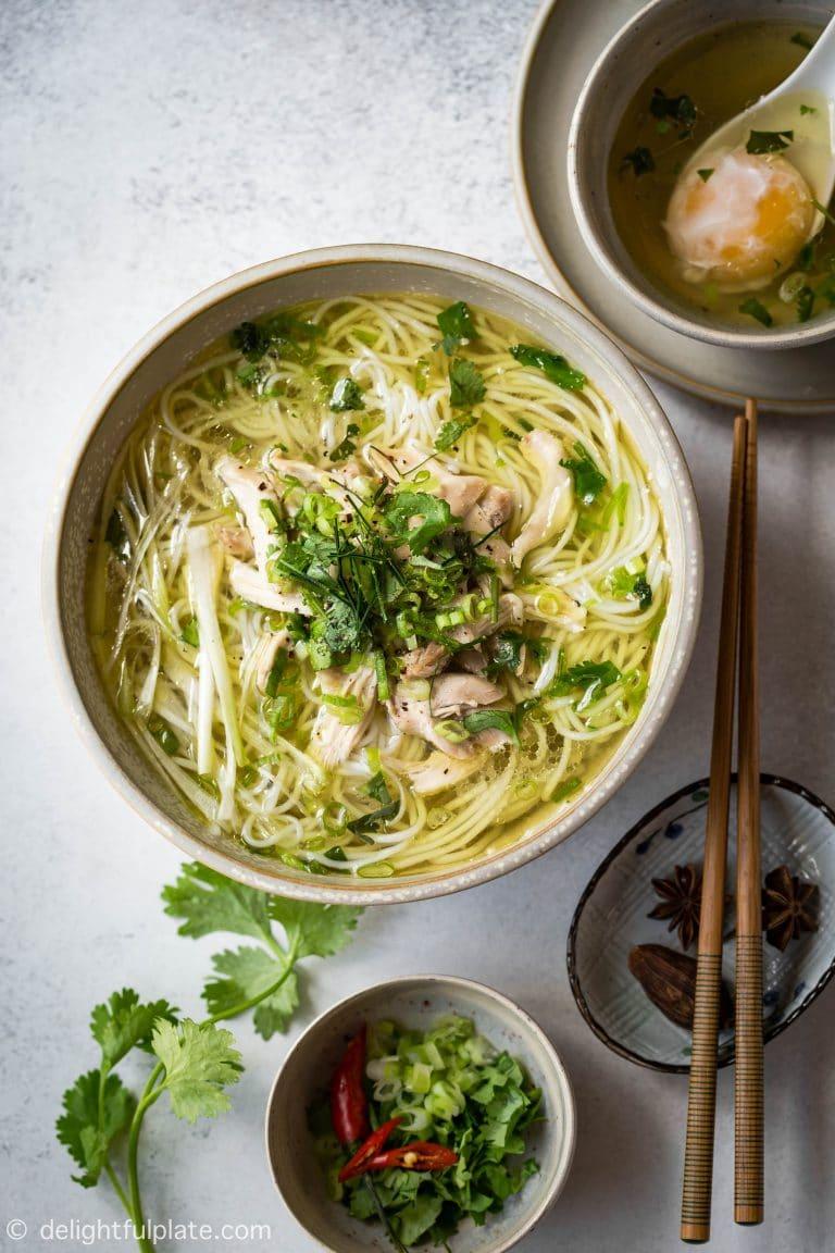 Vietnamese Chicken Vermicelli Noodle Soup