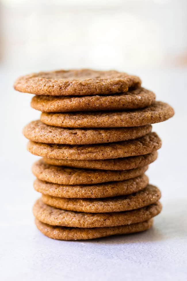 photo of a stack of gingersnaps