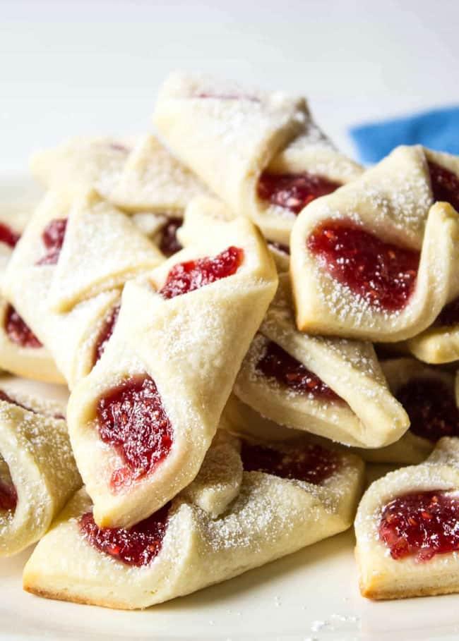 Raspberry Bow Tie Cookies