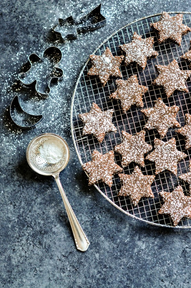 Cinnamon Chocolate Star Cookies