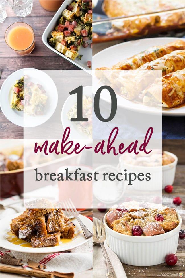 10 Make-Ahead Breakfast Recipes photo collage
