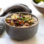Poblano chicken chili