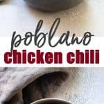 Poblano Chicken Chili