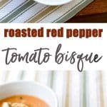 Roasted red pepper tomato bisque photo collage