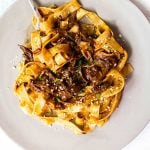 Pappardelle pasta with short rib mushroom sauce