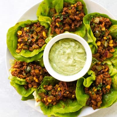 Chipotle Beef Lettuce Wraps
