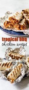 Chicken wraps photo collage