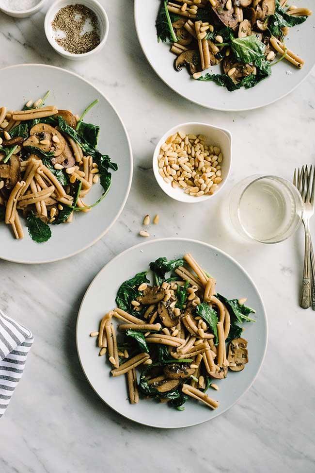 Mushroom Kale Pasta