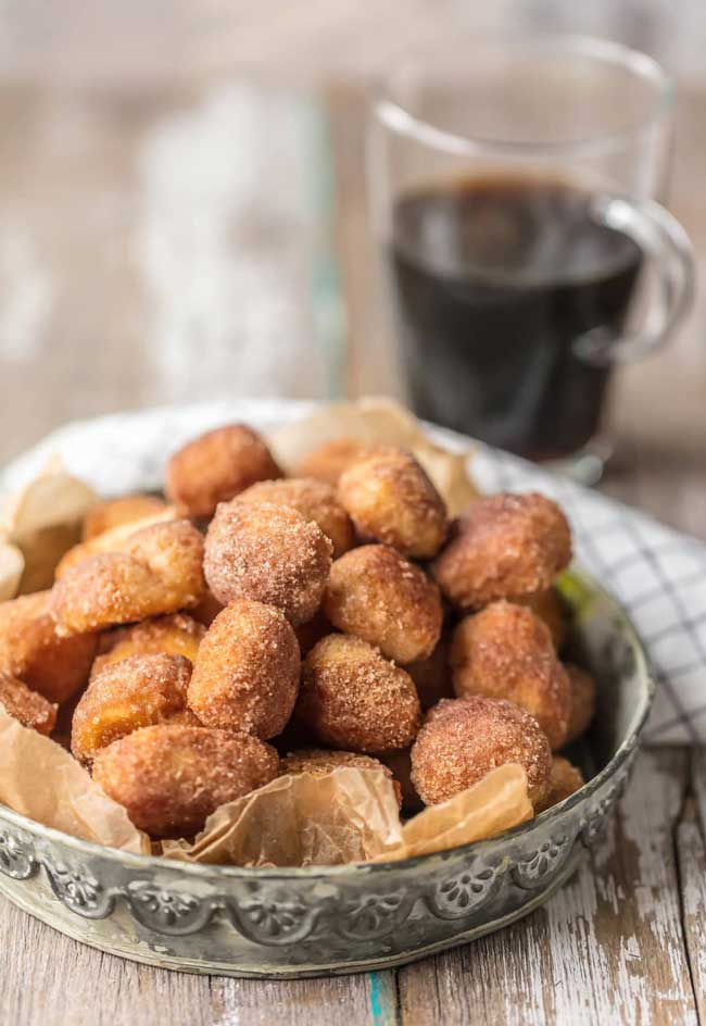 crispy cinnamon sugar biscuit bites