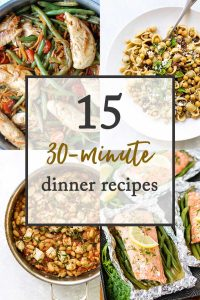 dinner recipes that take 30 minutes photo collage