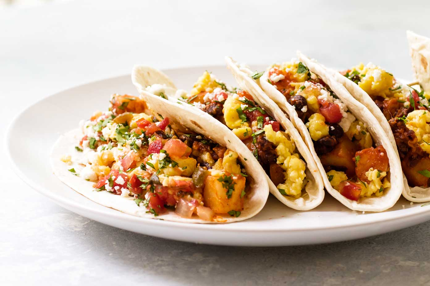Fully Loaded Breakfast Tacos Girl Gone Gourmet