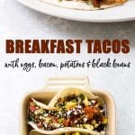 Breakfast tacos photo collage