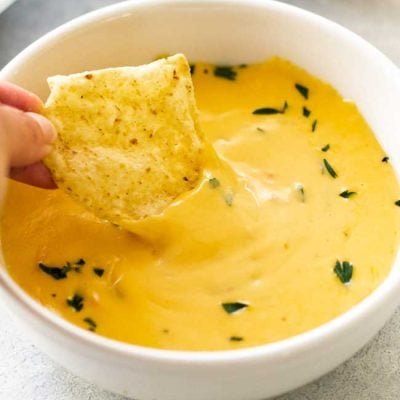 Easy Cheese Dip (in the Microwave!)