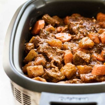 Slow Cooker Beef Stew with Spring Vegetables