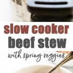 Slow Cooker Beef Stew photo collage