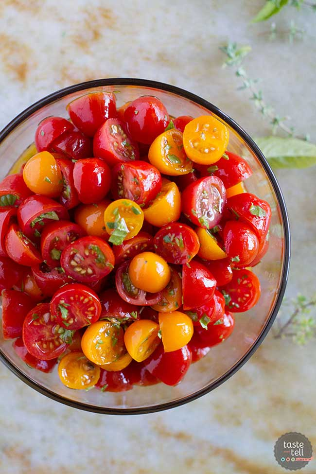 summer side dishes: tomato herb salad