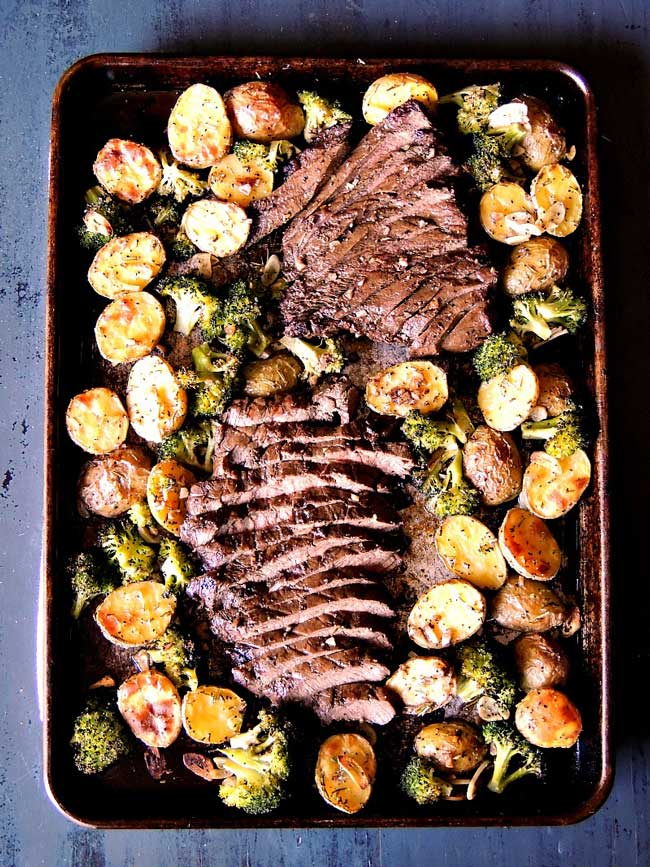 sheet pan steak