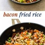 bacon fried rice photo collage