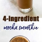 banana mocha smoothie photo collage