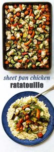 chicken ratatouille photo collage