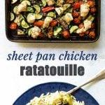 chicken ratatouille photo collage